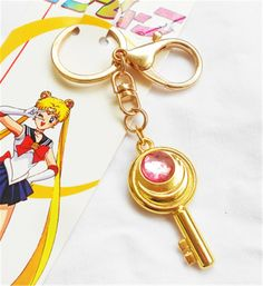 Relaxcos Sailor Moon Logo Cosplay Keychain Accessories Version A ** Click on the image for additional details.