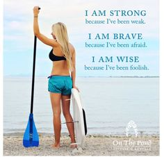 Stand up paddle boarding. I am strong because...... Onthepondfitness.com