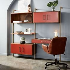 Linden Mid-Century Wall Desk