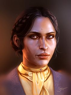 I know it has been a while again, but I am very happy to finally be posting more work in my Dragon Age portrait series! How could I do this series without including all the advisers? That's right, ...