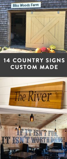 Country Signs - Rural Signs Created by our Customers Shed Signs, Barn Signs, Country Signs, Rustic Signs, Engraved Wood Signs, Wood Shingles, Outdoor Signs, Red Barns, Wood Letters