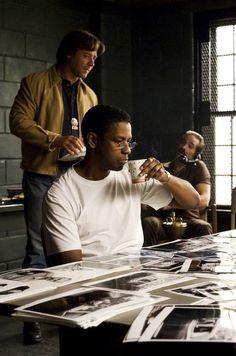 Russell Crowe & Denzel Washington in American Gangster