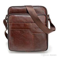 2016 New Brand Genuine Leather Men messenger Bag Vintage Cowhide Crossbody Bags for man bolso hombre mens bags -- Visit the image link more details. Handbags For Men, Luxury Handbags, Leather Handbags, Leather Bags, Designer Handbags, Fashion Handbags, Small Shoulder Bag, Leather Shoulder Bag, Cowhide Leather