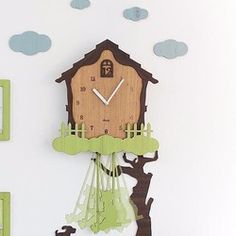 [Handmade wall clock wall clock] SWING HOUSE with pendulum