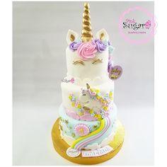 Unicornio cake en three layers unicornio Party unicornio cake Unicorn Birthday Parties, Birthday Cake, Glitter Force, Buttercream Cake, Fondant, Bakery, Cupcakes, Sugar, Cookies