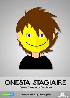 """ONESTA STAGIAIRE"", original character by Glen Tripollo. #VectorDoodle by Glen Tripollo"