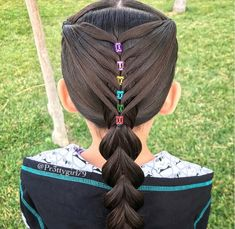 ✨Sometimes miracles are just good people with kind hearts. Elastic mermaid heart style into a reverse pull through ponytail 💜💗💛💚💙❤️ cute… Baby Girl Hairstyles, Princess Hairstyles, Pretty Hairstyles, Braided Hairstyles, Easy Toddler Hairstyles, Girl Hair Dos, Little Girl Braids, Crazy Hair Days, Creative Hairstyles