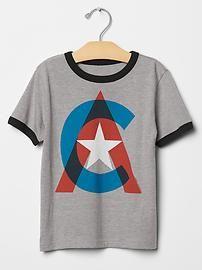 Captain America Junk Food™ hero logo graphic tee from Gap Toddler