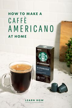 """Caffè Americano is an Italian interpretation of """"American coffee"""" that swaps out milk with hot water, resulting in a simple espresso drink that has become a staple of Starbucks cafés. Learn how to make the classic at home; all you need are two ingredients and a steady pour. Espresso Drinks, Coffee Drinks, Baby Food Recipes, Snack Recipes, Snacks, Baby Led Weaning First Foods, Christmas Cupcakes Decoration, Easter Dinner Recipes, Group Meals"""