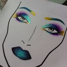 """oh wow! This Facechart is so similair to what i chose to do for my """"experimental"""" facechart."""
