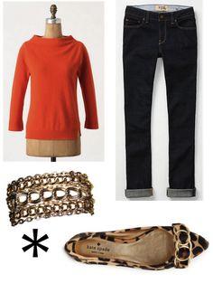 plain, cute shirt + jeans + cool bracelet + fabulous shoes = so me
