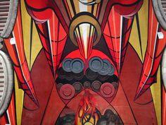 """Mural """"Patricios y Patricidas"""" (1945-1960) de David Alfaro Siqueiros, Secretaría de Educación Pública, Centro Historico, Ciudad de México ~ 104"""