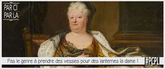 portrait de la princesse palatine dite madame pour illustrer une lettre de sa correspondace dédié aux miracles