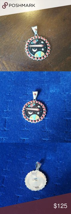 Zuni Solar system Sterling Necklace Zuni Solar system Sterling Necklace  Pendant Signed: Sterling  Chain Signed: PR, 925, Italy  If you don't like my price make me a offer! Jewelry Necklaces
