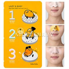 Holika Holika Gudetama Pig-nose Clear Black Head 3 Step Kit (10EA)