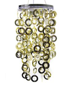Take a look at this Gold Ring Shimmer LED Chandelier on zulily today!