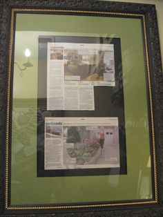 office nook custom frames a giveaway framing newspaper