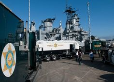 USS Iowa demo in San Pedro at the National Homeland Security Conference. June 6, 2013. (Photo Credit: C. Miller)