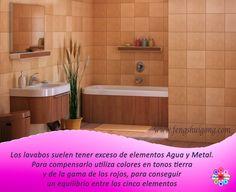 Aplicando Feng Shui en el lavabo podemos convertirlo en un espacio agradable y armonioso, respetando el equilibrio de los cinco elementos. Y recuerda mantener los desagües siempre tapados Más tips en http://www.fengshuigong.com