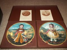 MARIA and SANCHEZ Plates BY SANCHEZ PICKARD CHINA CHILDREN OF MEXICO w/COAs