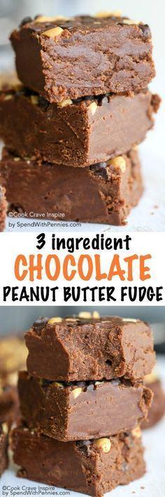 Easy Chocolate Peanut Butter Fudge