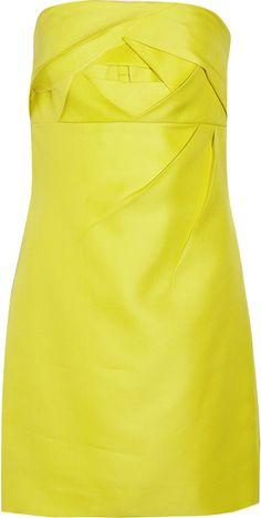 VALENTINO   Strapless Silktwill Dress