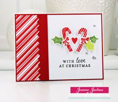 A Kept Life: Stamp of Approval Candy Cane Lane New Release Blog Hop!  The Candy Cane Lane Stamp of Approval Collection makes holiday card making easy!   www.cpstampofapproval.com