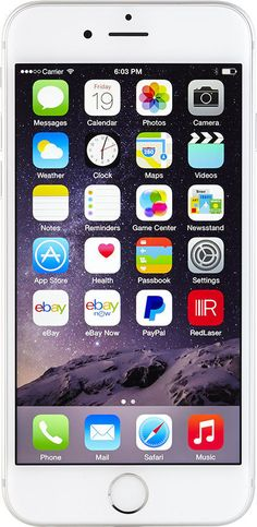 Phone model Apple iPhone 6 Plus - Memory - Silver (Factory (Unlocked)) Smartphone New phone on sale - Mobile Apple Iphone 6, Cell Phone Store, Cell Phone Wallet, Mobile Smartphone, Cell Phones In School, New Phones, App Store, Iphone 6 Plus Gold, Tecnologia