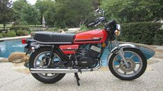 1976 Yamaha RD-400.  RD's were some of the quickest bikes on the road in the early 70s- one had to hop on the mighty Kawasaki Z-1 to beat 'em!