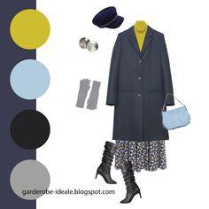 Образ с темно-синим базовым пальто с платьем с цветочным принтом Colour Combinations Fashion, Color Combinations For Clothes, Color Combos, Casual Outfits, Fashion Outfits, Womens Fashion, Seasonal Color Analysis, Color Balance, Season Colors