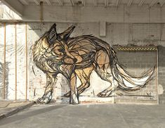 Geometric Animal Street Art By Dzia Brings Life To Abandoned Urban Areas