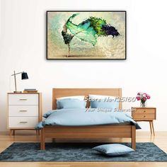 Modern Wall Art Decor Canvas Color Swan Figure Dance Wall Picture Decorative Abstract Oil Painting Print Single Artwork No Frame