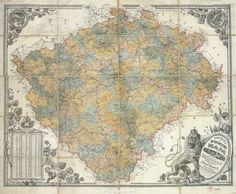 Kingdom of Bohemia 1883 #map #bohemia #czechrepublic