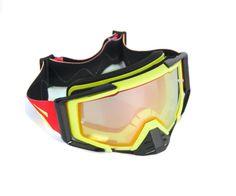 44a8d283b8402 Óculos Capacete MotoCross Red Dragon EFX YH-105 AP amarelo Preto Lente  espelhada Vermelha