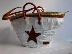 AUDALI- Mallorca  Capazo decorado con piel Straw Bag, Diy, Shoe Bag, Baskets, Handmade, Summer, Shoes, Fashion, Crafts