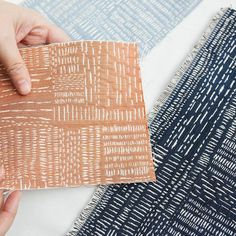 Read all about Rebecca's process for the woven sashiko stitch up on The Fold