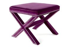 $199 Palmer Ottoman in Orchid | Safavieh ... want two!! These are from OKL but they are also available elsewhere.