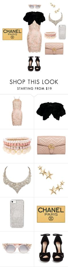 """if star butterfly light was on a show like scream queens outfit 112"" by miliorobb on Polyvore featuring Dorothy Perkins, Jocelyn, Lipsy, Gucci, David Webb, Kenneth Jay Lane, Chanel, Jimmy Choo and Alexander McQueen"