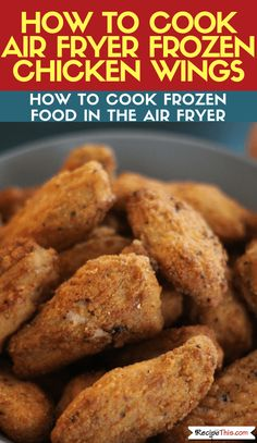 Would you like to learn how to cook the best ever frozen chicken wings in the air fryer? If so, how to cook frozen. chicken dinner How To Cook Frozen Chicken Wings In The Air Fryer Air Fryer Recipes Chicken Wings, Air Fry Chicken Wings, Frozen Chicken Wings, Air Fryer Oven Recipes, Air Fryer Dinner Recipes, Chicken Wing Recipes, Chicken Thighs, Chicken Wings Airfryer, Recipe Chicken