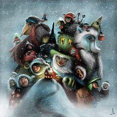 Bajkowe ilustracje szwedzkiego artysty - Joe Monster