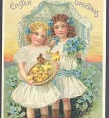 Image result for Vintage postcards girl with umbrella