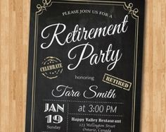 Retirement Party Invitation Rustic Wood And Gold Retirement