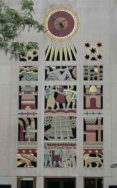 The Art Deco buildings of New York City: The Empire State Building, the Chrysler Building and the Rockefeller Center.