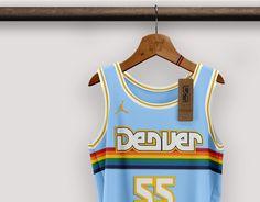 Best Nba Jerseys, Nba Uniforms, Basketball Design, Denver Nuggets, Uniform Design, Sports Brands, Baseball Players, Asian Men, Graphic Design Illustration