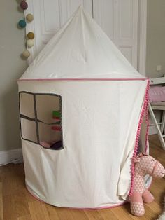 DIY Kids Tent (makeover) / tipi / teepee / kids room / kids & DIY kids play tent #teepee #tent #kids #DIY #tutorial http ...
