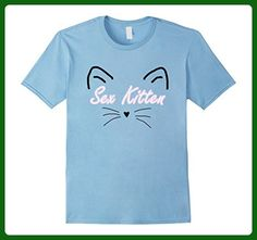 e5868604a Mens Sex Kitten T-Shirt Small Baby Blue - Animal shirts (*Amazon Partner