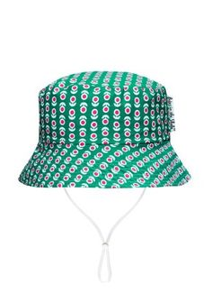 Babes In The Shade Green Floral Hat