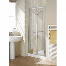 Good Quality Lakes Reduced Height 900x1750 Semi Framed Bi Fold  Shower Door Silver - 7306