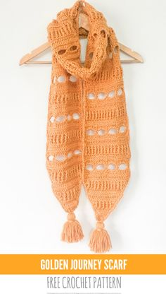 FREE CROCHET PATTERN - Golden Journey Scarf