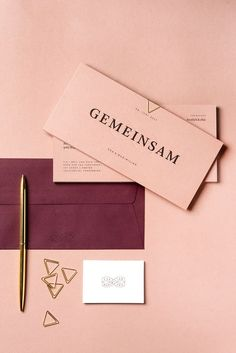 dusty pink and wine spring wedding invitations/ Minimalist spring wedding invitations